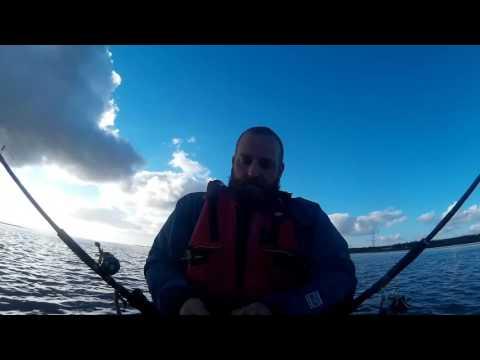 Flounder on the Loughor Kayak Fishing