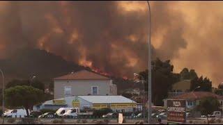 Les images du terrible incendie qui dévaste Biguglia et Olmeta, tout près de Bastia