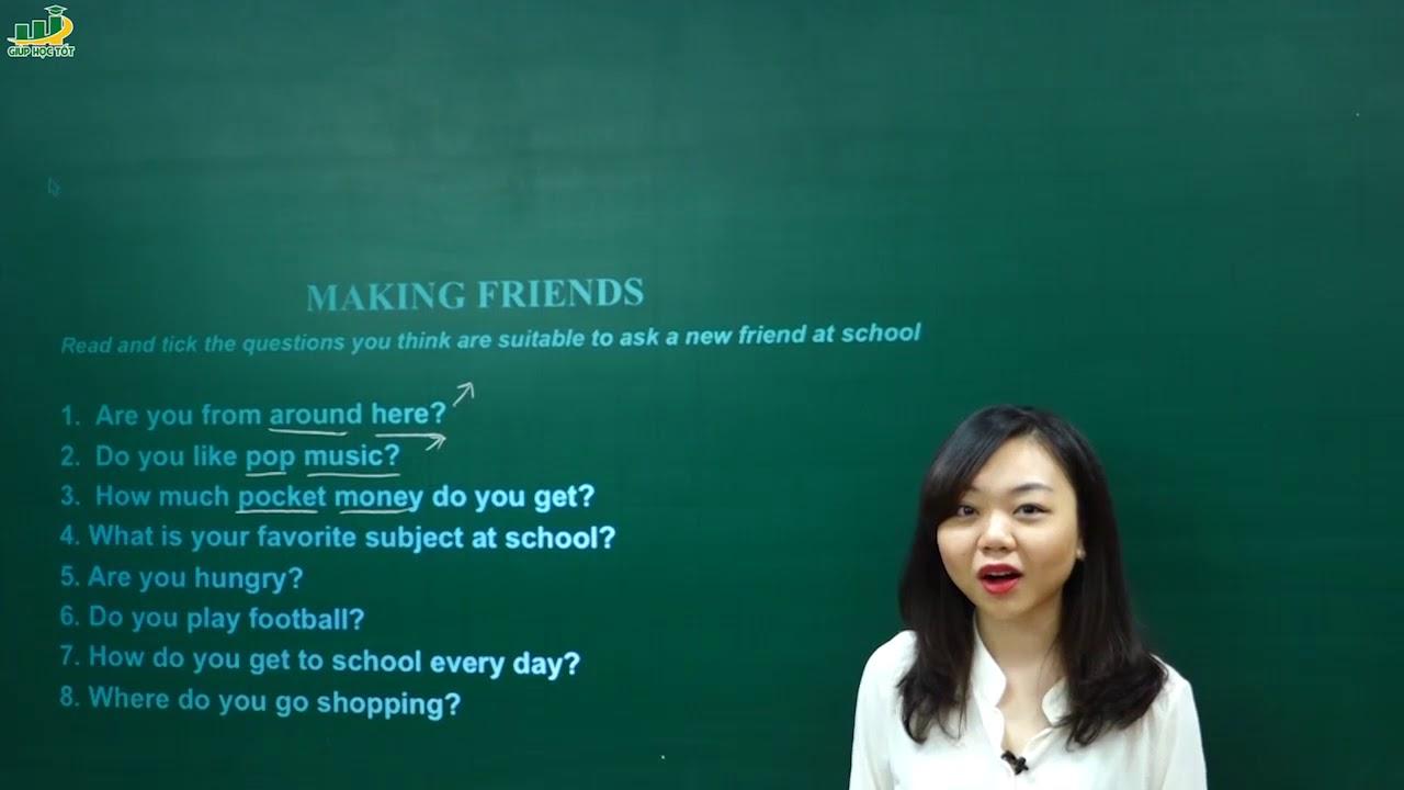 Tiếng Anh lớp 6 –  Communication – trang 11 Unit 1 tiếng anh lớp 6 chương trình mới   my new school