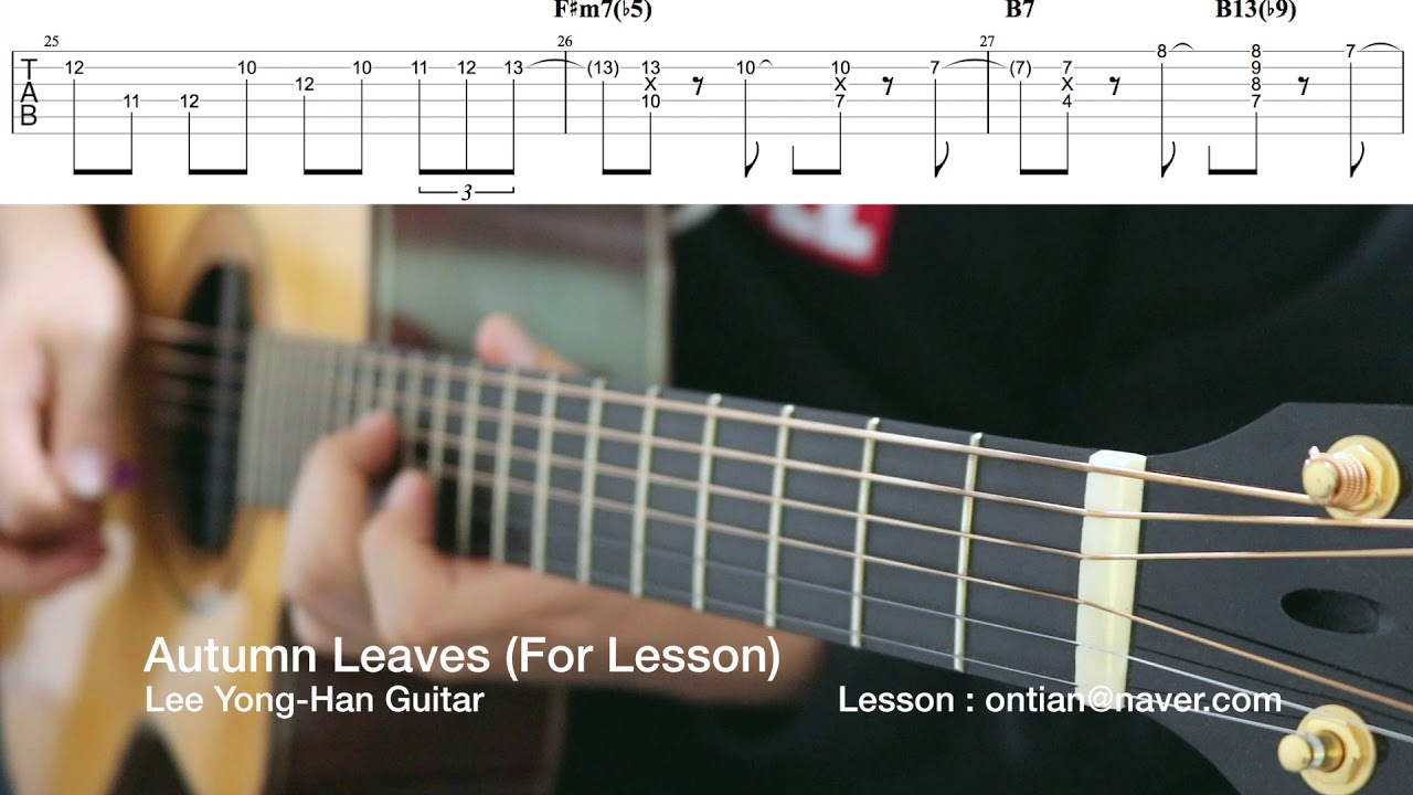 [Fingerstyle Guitar Tab] Autumn Leaves(For Lesson)