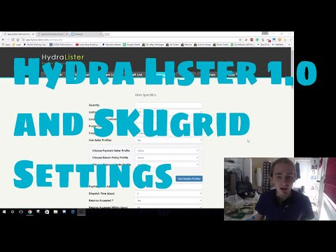 eBay Drop Shipping - Setting Up Hydra Lister Bulk Listing Software and SkuGrid Inventory Tracker