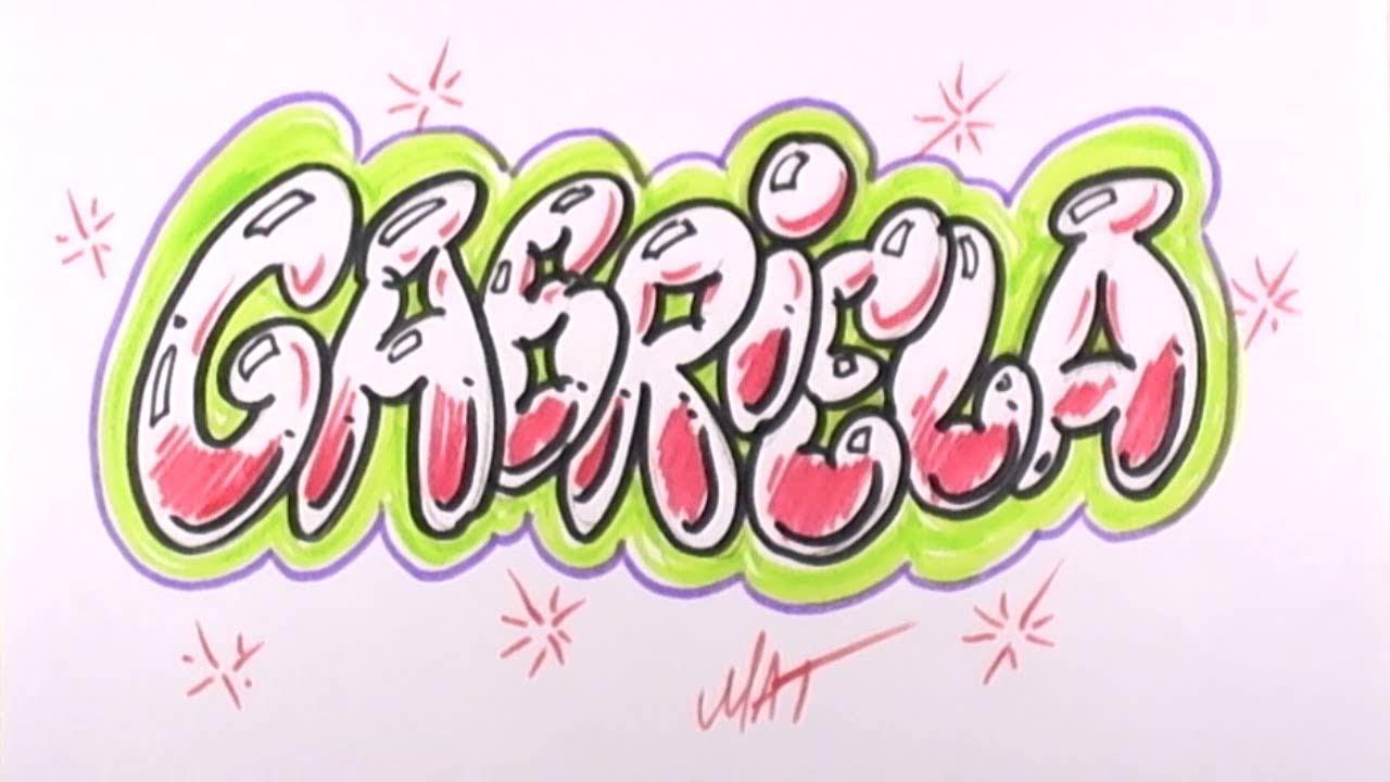 Graffiti Writing Gabriela Name Design , 19 in 50 Names Promotion