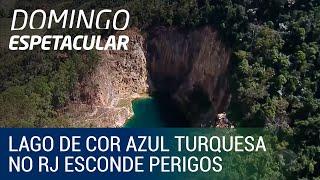 Lago de cor azul turquesa no Rio de Janeiro esconde perigos
