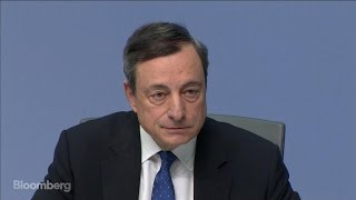 ECB's Draghi Defends Germany on Trade, Currency