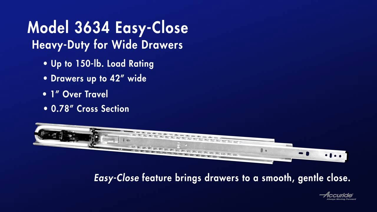 Accuride Drawer Slides Accuride 3634ec Heavy Duty Slide For Wide Drawers