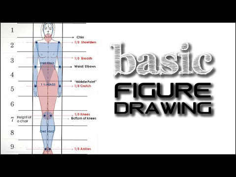 basic standing figure tutorial fashion design drawing for