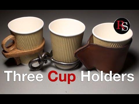 DIY - Making Coffee Cup Holders (Blacksmithing / Woodworking / Leatherworking)