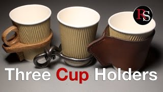 DIY - Making Coffee Cup Holders (Blacksmithing / Woodworking / Leatherworking)