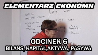 ELEMENTARZ EKONOMII - odc.6 Bilans, kapitał, aktywa, pasywa