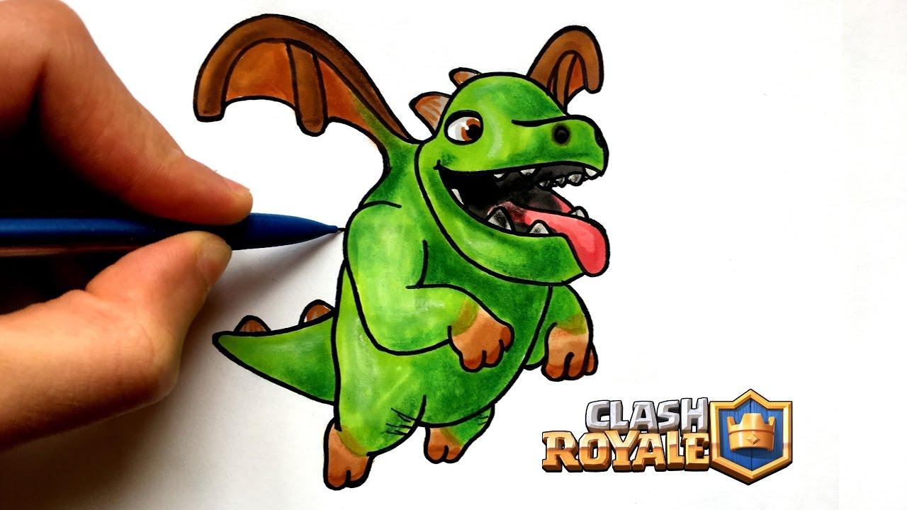 Dessin bebe dragon clash royale youtube - Dessin de bebe dragon ...