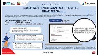 Sosialisasi Pengiriman Email Tagihan Pihak Ketiga (Rabu, 17 Feb 2021)