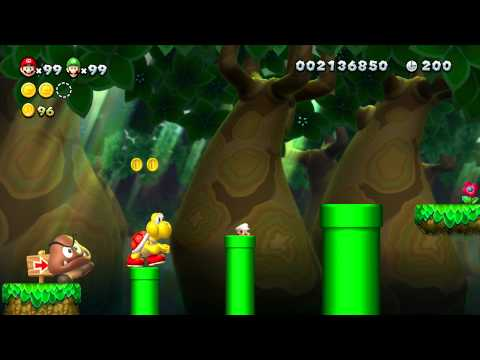 New Super Mario Bros U - 100% Walkthrough Co-op - Parte 09 di 22