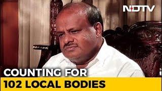 Congress, BJP In Close Fight For Karnataka Urban Body Polls