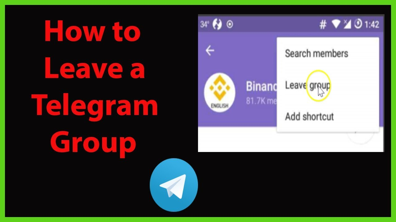How to Leave a Telegram Group?