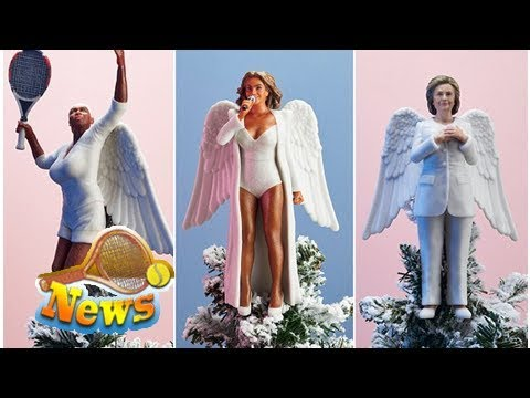 There are now beyoncé, serena williams, & hillary clinton tree toppers