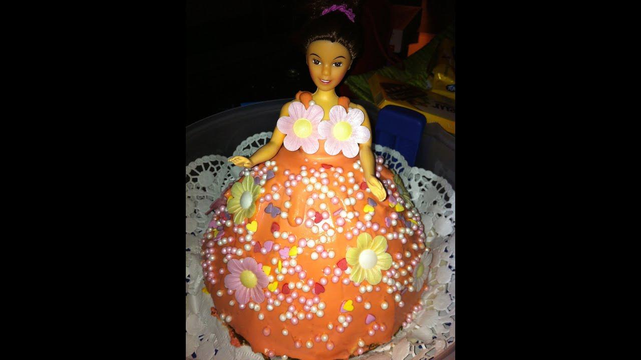 Barbiekuchen Regenbogenkuchen Doll Cake Rainbow Cake Youtube