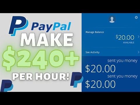 Make $240 per hour Get Paid With PayPal - How To Make Money With Paypal In 2021 (For Beginners)