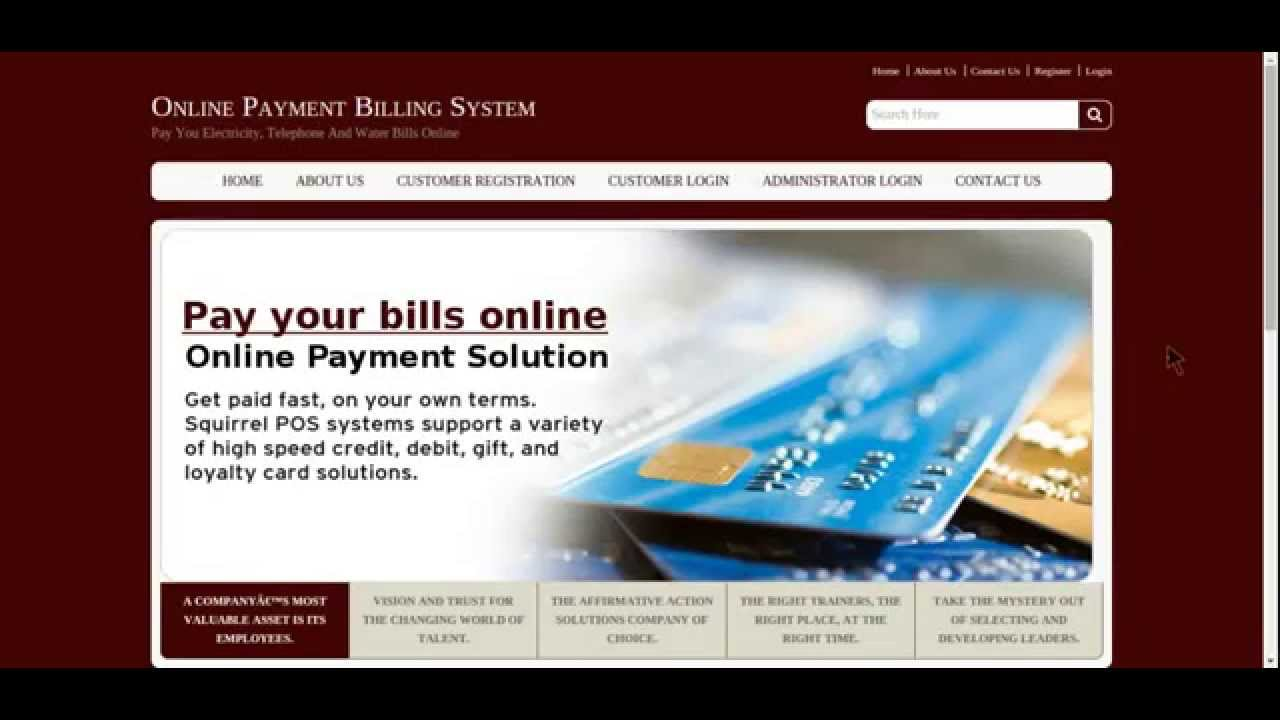 Online Billing System