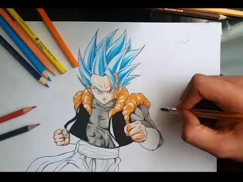 Como Desenhar O Gogeta Ssj Blue Em Tempo Real Parte 2 Youtube
