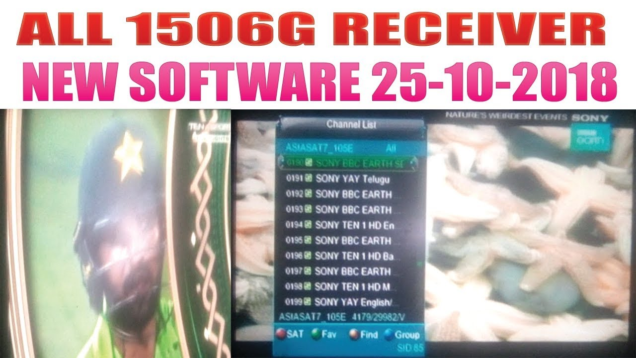 ALL 1506G CHINA RECEIVER NEW SOFTWARE 25-10-2018 - hmong video