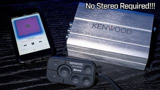 Kenwood KAC-M1824BT - 4 Channel Bluetooth Amplifier - No Stereo Required!!! Mp3