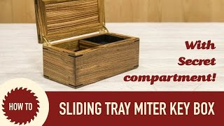 This box has mitered corner joinery that can easily be made on the tablesaw and reinforced with splines. The inside has a top