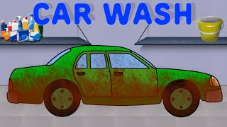 Car wash | cars for kids | green car | videos for children | car wash cartoons for children