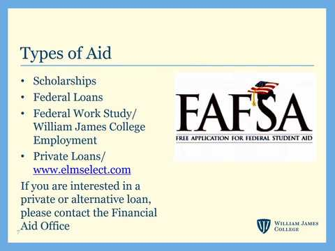 Financial Aid Step-by-step Video Guide at William James College