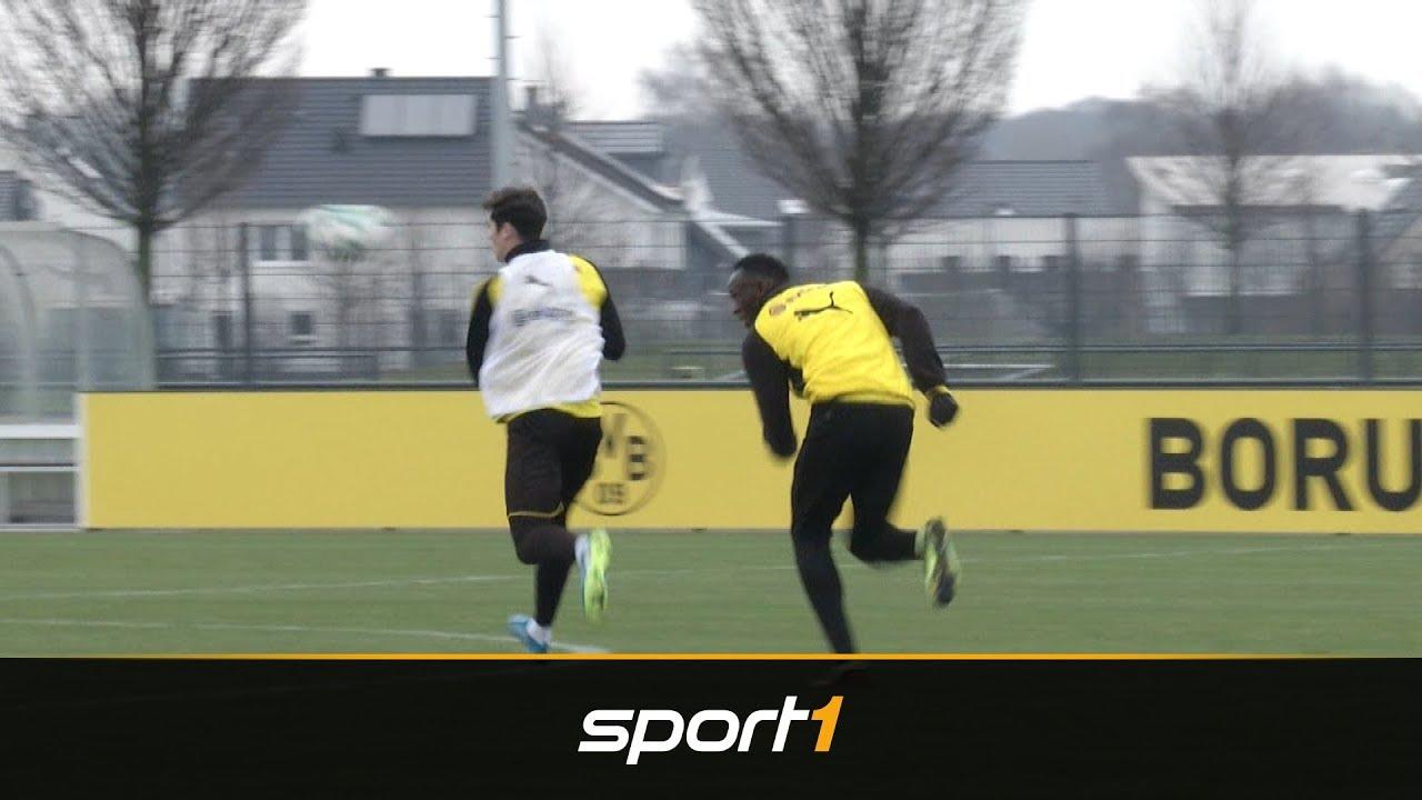 Tor und Tunnel! Usain Bolt zockt bei Borussia Dortmund auf | SPORT1