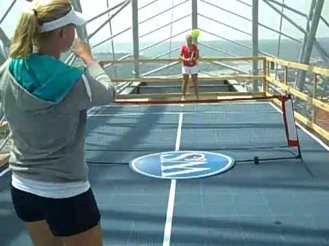 Queen City Tennis Match on Cincinnati's tallest building