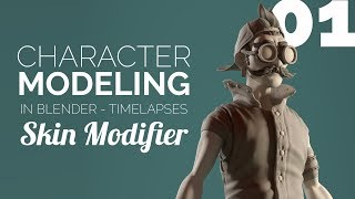 Character Modeling in Blender - 01 Skin Modifier