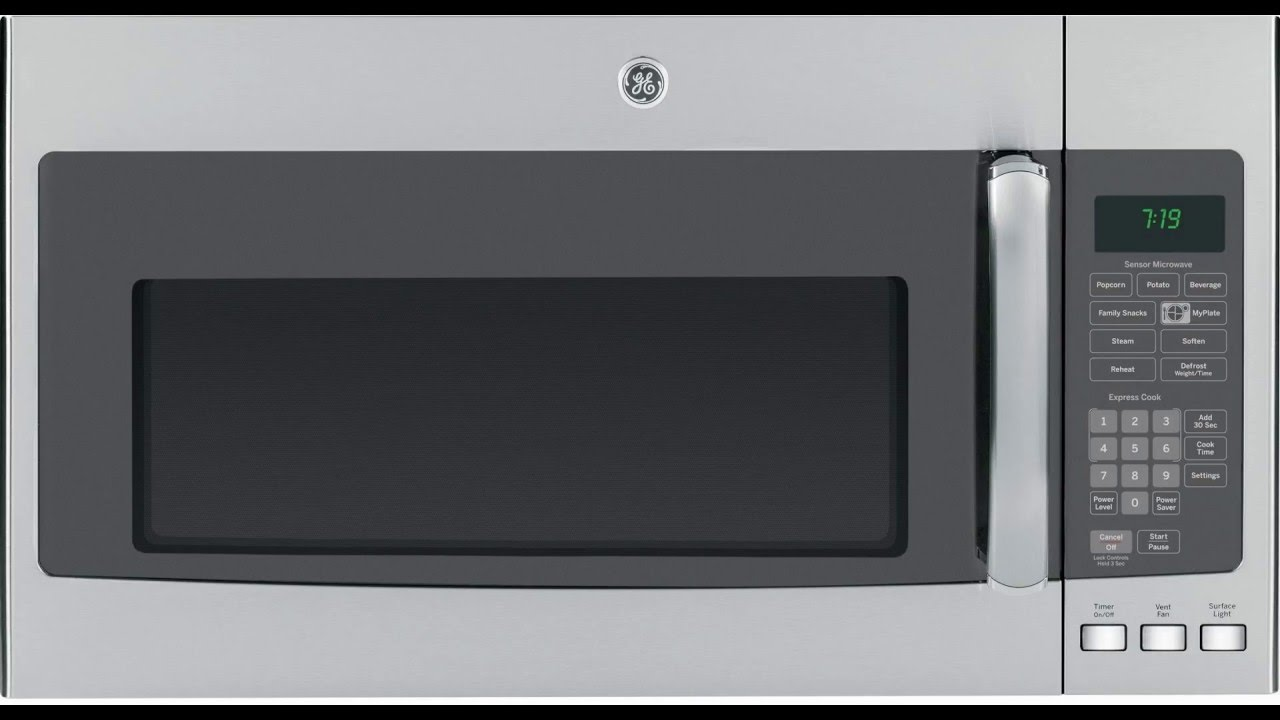 The Ge Jvm7195sfss 1 9 Cu Ft Stainless Steel Over Range