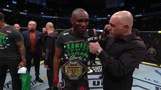UFC 245: Камару Усман - Слова после боя
