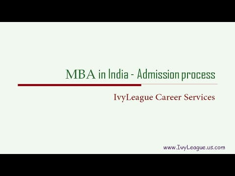 MBA in India   Admission Process