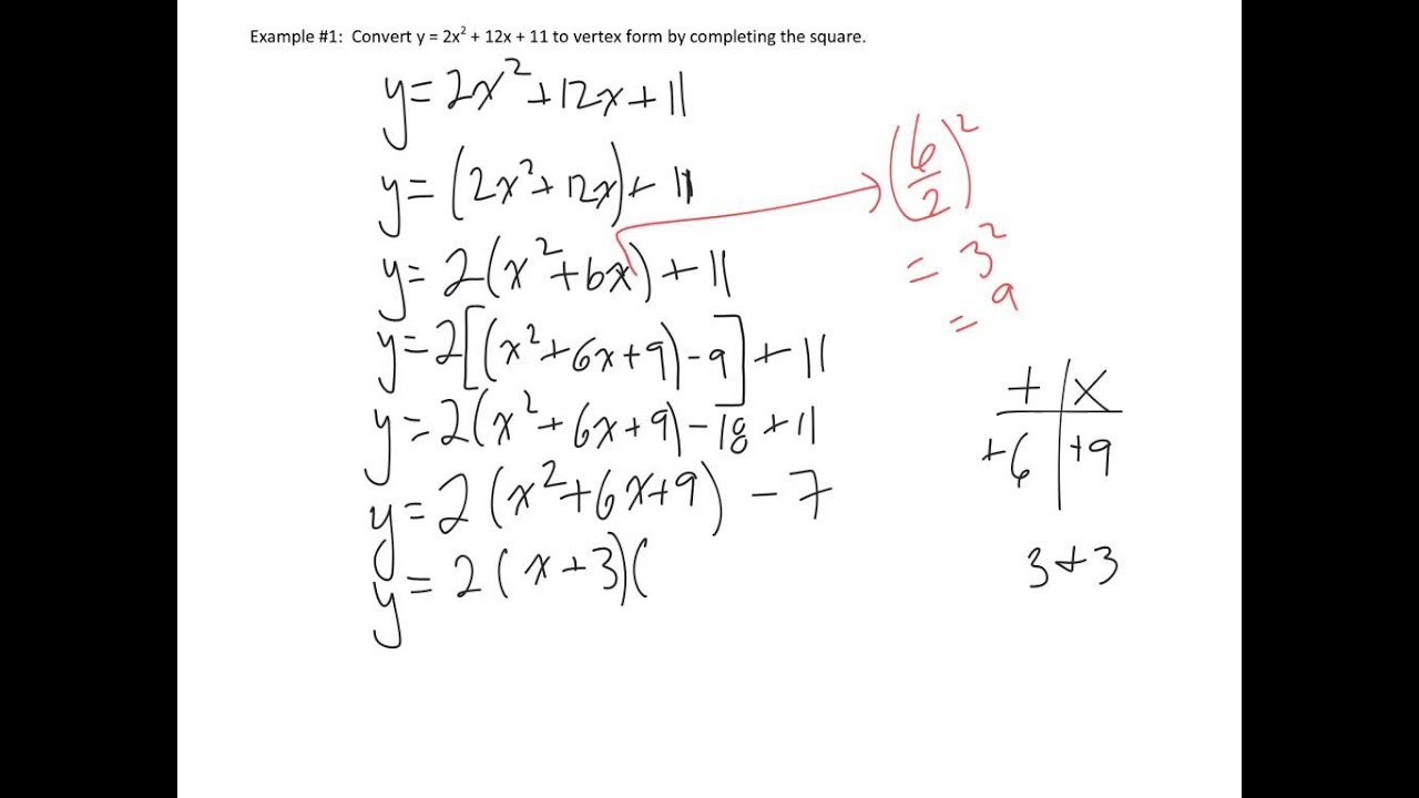Completing The Square When A Is Not 1