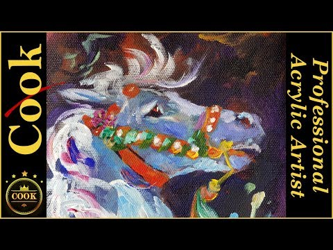 A Carousel Horse Acrylic Painting Tutorial for Beginner and Advanced Artists with Ginger Cook
