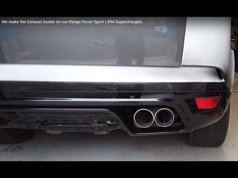 We Make The Exhaust Louder On Our Range Rover Sport L494 Supercharged...