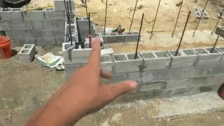 Построить дом в США своими руками. Кладка блоков.