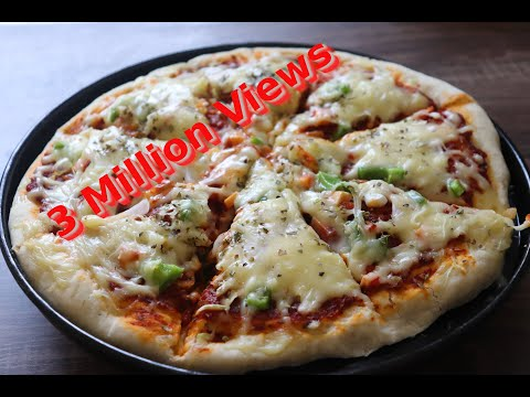 Homemade veg  pizza recipe | Vegetable Pizza  with pizza Sauce Recipe |pizza Recipe