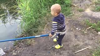 Первая рыбалка, тренируемся на озере