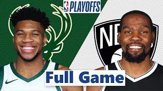 Brooklyn Nets vs. Milwaukee Bucks Full Game 1 Highlights