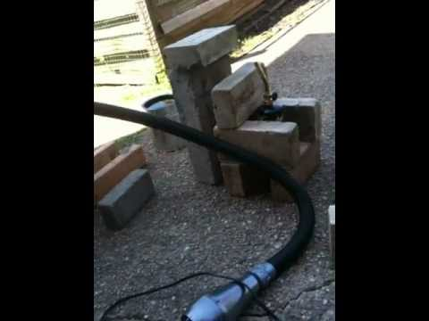 One Fire Brick forge furnace with forced air part 2
