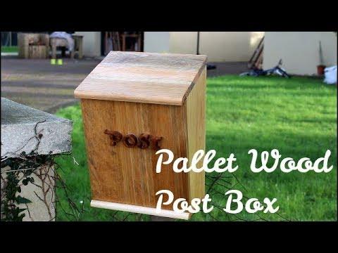 Pallet Wood Post Box