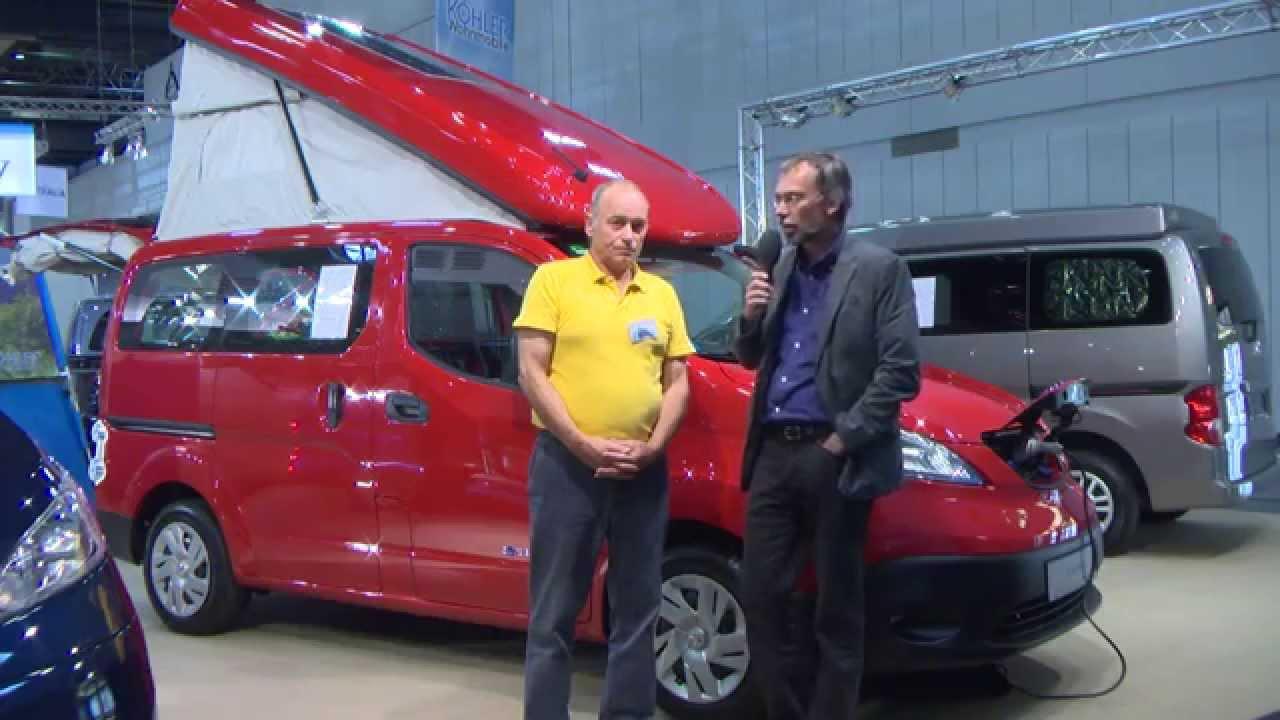 elektro campingbus von nissan auf dem caravan salon 2015 - youtube