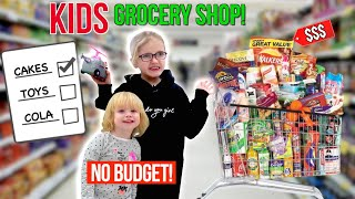 KiDS GROCERY SHOPPiNG CHALLENGE! *NO BUDGET*