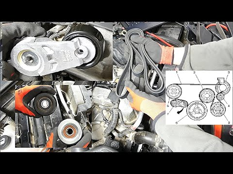 How to Replace Serpentine Drive Belt Tensioner and Idler Pulley in GMC, Chevrolet, Hummer H3