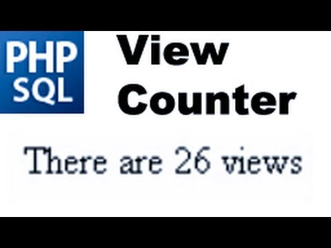 PHP MySQL Tutorial: Create A Simple View Counter -HD-