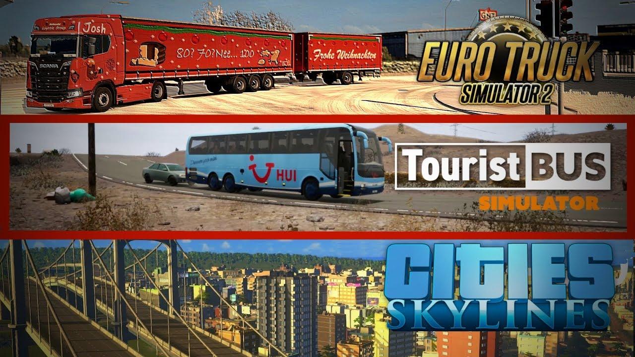 Tourist Bus Simulator 🔴 Livestream-Aufzeichnung   07. Dez (2/3 ...