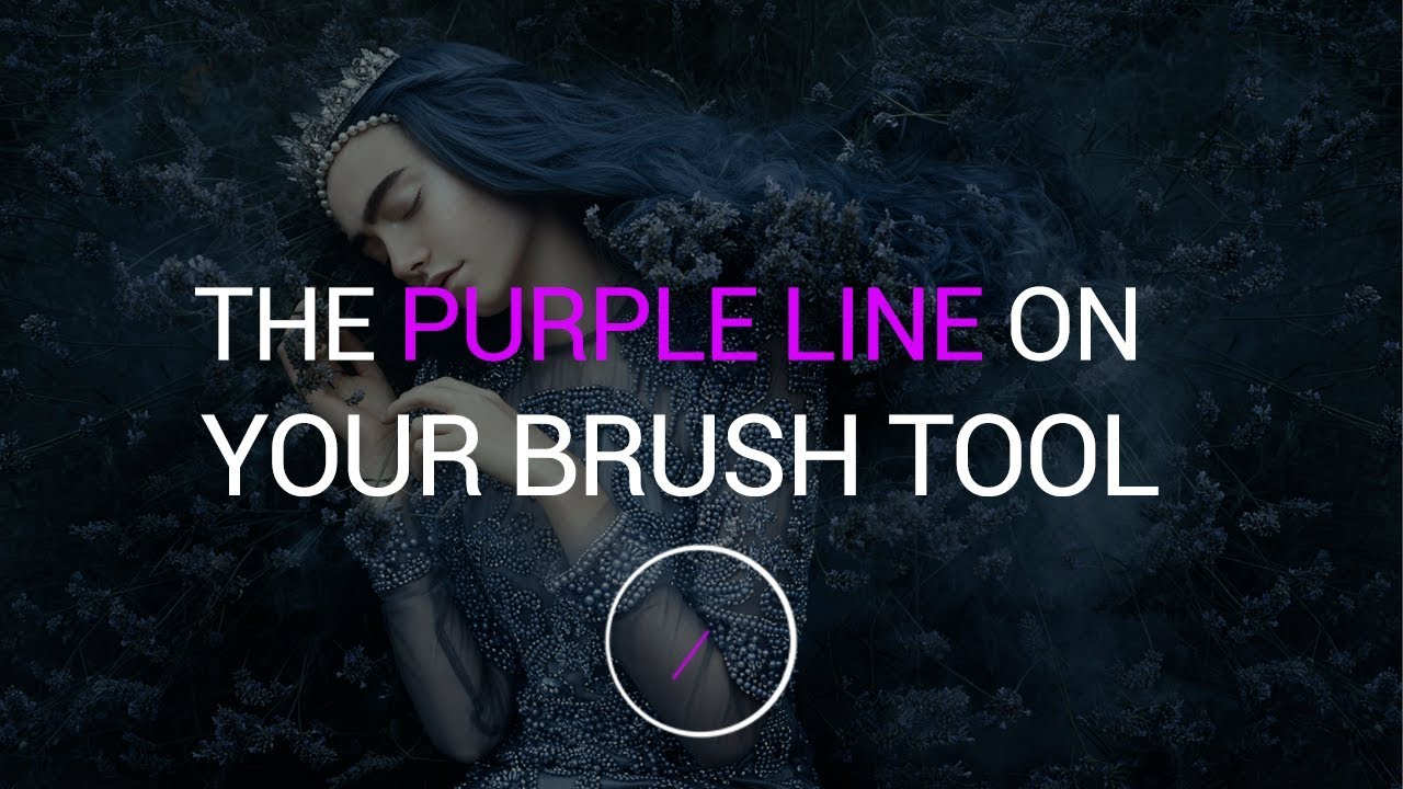Why the Brush Tool Has a Weird Purple Line in Photoshop CC 2018