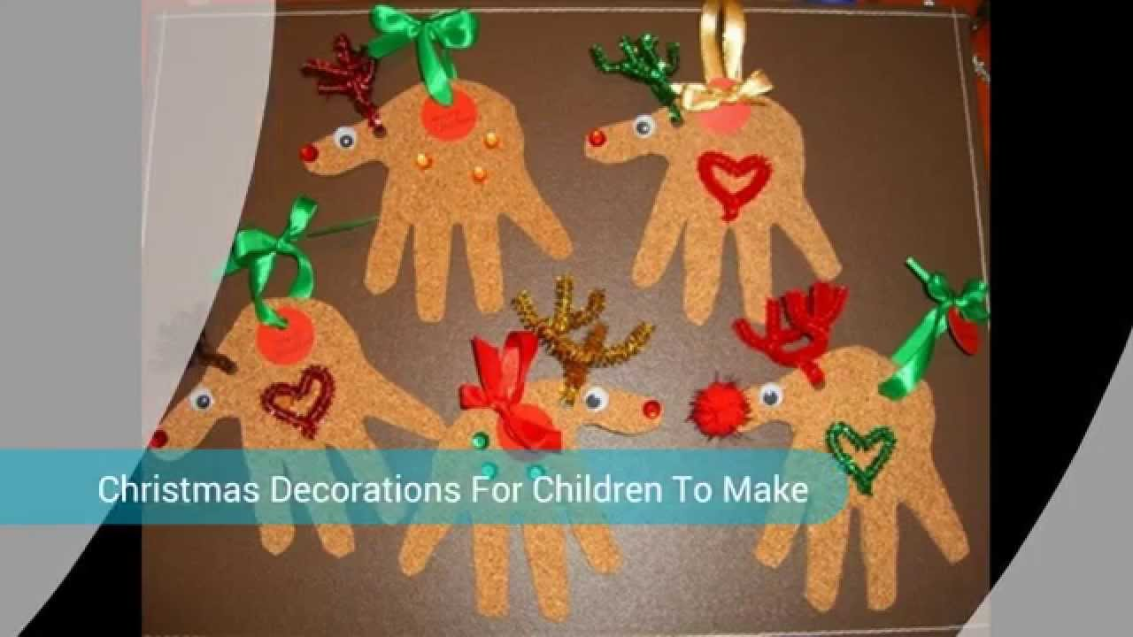 crafts christmas decorations for children